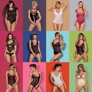 12 Neu Damen Body Spitzenbody Stringbody Bodysuit Obsessive S/M L/XL 2XL Sexy