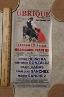 2015 Small Bullfight Poster From Ubrique Spain - Plaza De Toros