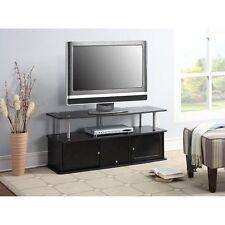 Modern 50 Inch TV Stand Entertainment Center Media Furniture Console Black Flat