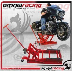 Cavalletto sollevatore pedana idraulica con ruote per moto for Pedana alzamoto