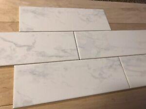 Lot Of 12 American Olean Mooreland Carrara White 4 29 Quot X