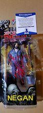 The Walking Dead Comic Negan Jeffrey Dean Morgan Signed Figure - Series 5 W/COA