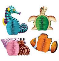 Luau Sea Creatures Mini Centerpieces 4 Piece