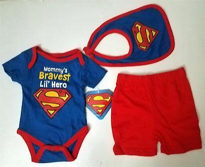 Superman Baby Boys 5 Piece Bodysuit /& Pants Set