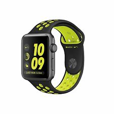 Apple Watch 2 Nike + 38mm Space Grey Caso di alluminio con fascia Nike Sport Nero/Volt