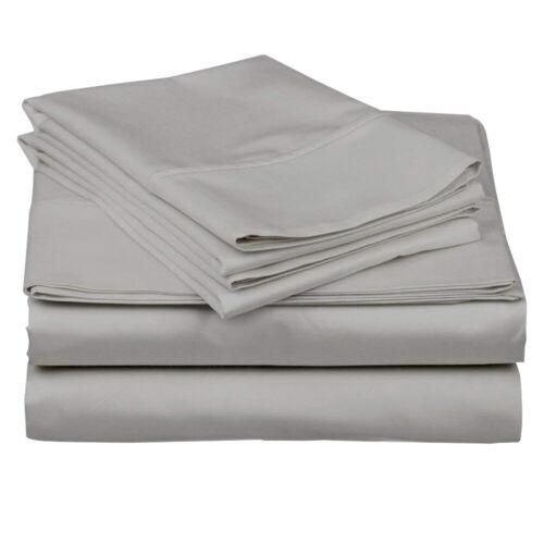 """Uniwarseal Cotton Sheet Set 4 Pcs Percale 400 TC 15/"""" Drop Extra Color-Size"""