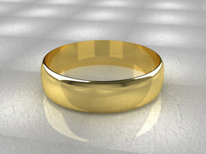 18ct-Yellow-Gold-Wedding-rings-D-Shaped-Band-Fully-Hallmarked-750