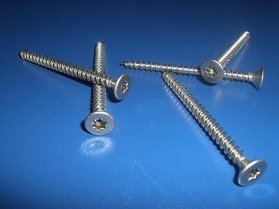 100 St/ück Spanplattenschrauben 4x16 mm Vollgewinde TX20 Torx Schrauben 100, 4x16 mm Holzschrauben A2 Edelstahl Senkkopf
