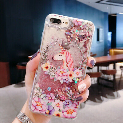Glitter Quicksand Unicorn Case for