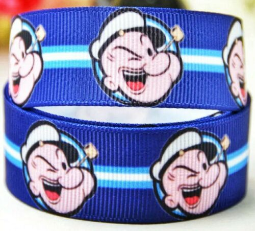 "7//8/"" 2 YARDS Popeye The Sailor Man Grosgrain Ribbon Crafts Scrapbook Cards Bows"