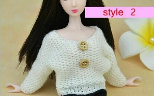 "Fashion Doll Accessories For 11.5/"" Doll Knitted Sweater For 1//6 Doll Clothes Toy"
