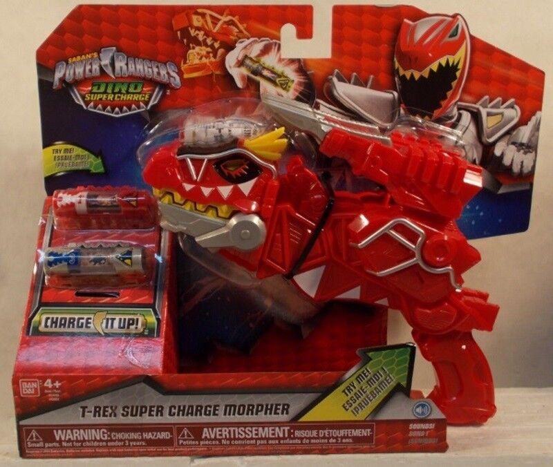 Power Rangers Dino sobrecargadas T-Rex Super cargo Morpher sonidos electrónicos Menta en paquete