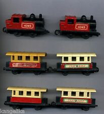 Matchbox -- Super casi -- colección-lokomoitiven-Steam - 1978-vagones --