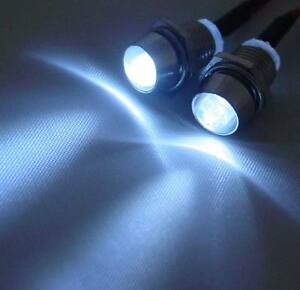 12V Anschlußfertig C2697 LED Grün 3mm Chrom Metall Fassung Halter Schraube 9V