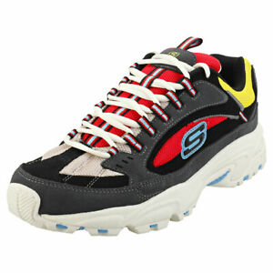 Skechers-Stamina-Cutback-Mens-Multicolour-Suede-amp-Synthetic-Fashion-Trainers