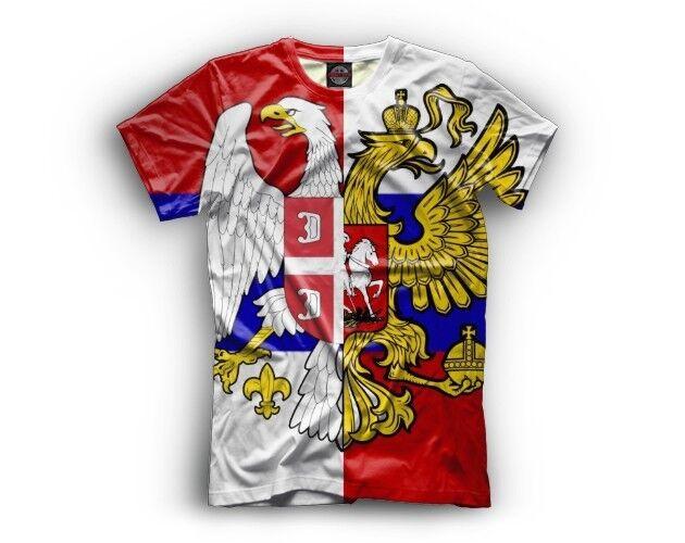 NEW t-shirt orthodox brothers Russia Serbia Moscow Beograd Spartak Crvena Zvezda