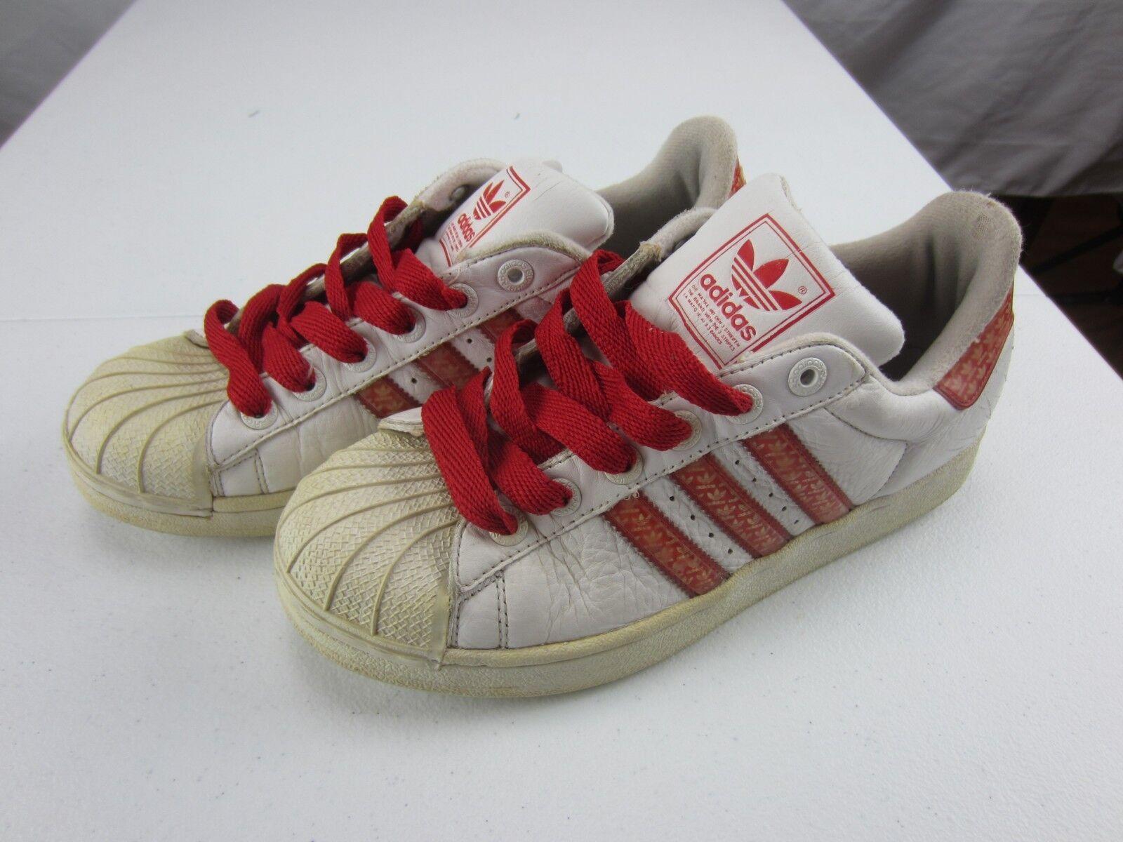 les samoa à trois bandes rouges et et et blanches adidas nous 8 1 / 2 de taille 10d75d