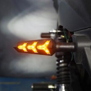 4x-Led-Mini-Blinker-Spark-Schwarz-Smoke-getoen-Motorrad-Quad-ATV-Roller-4-Stueck