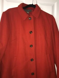 Banana Republic Womens Orange RUST 80% Wool Coat Jacket Button ...