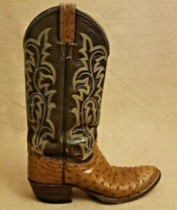9ed365d1500 Justin 08713 Men Brown Exotic Full Quill Ostrich Western Cowboy ...