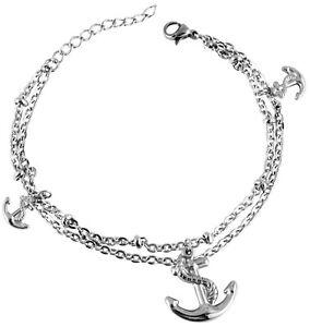 Anker-Armband-maritimes-Armband-Edelstahl-Anker-Armkette-Edelstahl-Karabiner