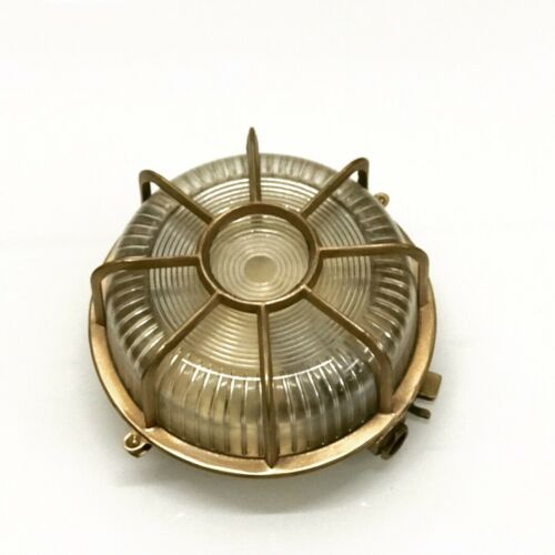 Nautical Original Ships Brass Bulkhead Deck Light One Pcs
