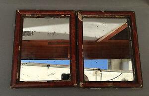 2 antichi specchio cornici in legno e intonaco dipinto d co vintage francese ebay - Specchio in francese ...