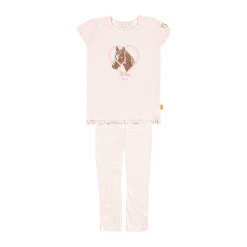 mit Pferdchen Stick STEIFF Schlafanzug in chalk pink rosa 6636565