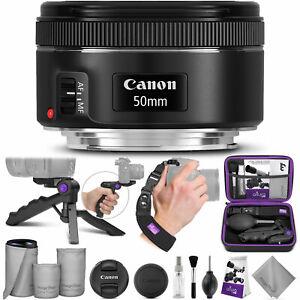 Canon-ef-50mm-f-1-8-Stm-Lente-con-altura-Foto-esencial-paquete-de-accesorio