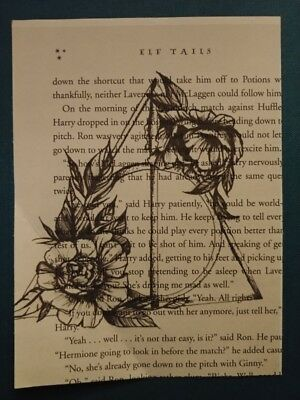 wall hangings Dobby unframed home decorations Harry Potter book page print