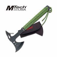 Tactical Axe | Mtech 15.25 Green Battle Hatchet Throwing Tomahawk Green + Black