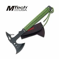 Tactical Axe | Mtech 15.25 Green Battle Hatchet Throwing Tomahawk Green + Black