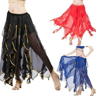 UK Belly Dance Costume Sets Bra Belt Full Circle Skirt Carnival fancy Outfit