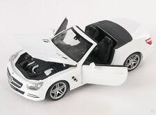 BLITZ VERSAND Mercedes SL 500 Cabrio 2012 weiss white Welly Modell Auto 1:24 NEU