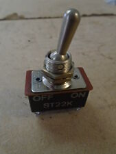1 EA NOS AIRCRAFT TOGGLE SWITCH   - VARIOUS APPLICATIONS   P/N: ST22K