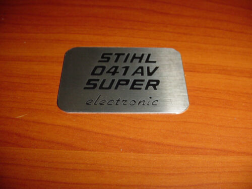 ---- BOX387 STIHLCHAINSAW 041 041AV SUPER ELECTRONIC NAME TAG