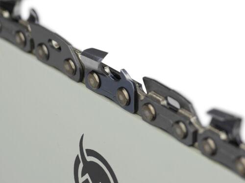 """Schwert 2 Ketten passend für Scheppach CSP2540 35 cm 3//8"""" 1,3 mm 52 TG"""