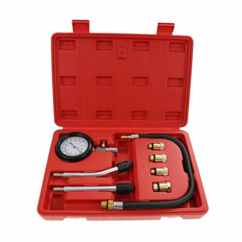 Benzin Kompressionsdruck Prüfer Tester Satz mit 4 Adapter 10-12 14 und 18 mm