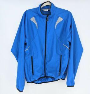 Sugoi  Lightweight Cycling Rain Wind  Jacket Full Zip  Blue Packable Sz Medium
