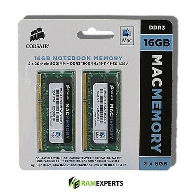 "16GB RAM Kit (2 x 8GB) Apple MacBook Pro ""Core i7"" 2.9GHz 13"" Mid-2012 MD102LL/A"
