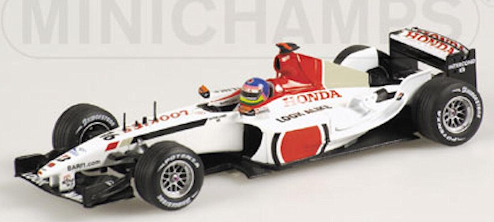 B. A. R. Honda 005 J. Villeneuve 2003  16 1 43 Minichamps
