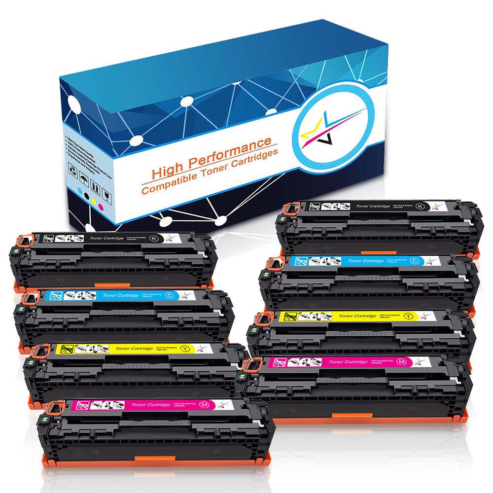 1-10PK CB540A CB541A CB542A CB543A Toner Lot For HP Color Laserjet CM1312 CP1215