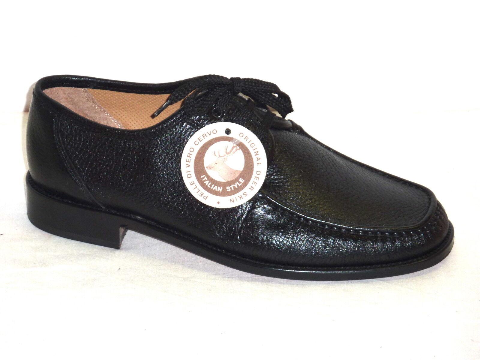 U4201H MELLUSO zapatos hombres ALLACCIATE PELLE CERVO negro MODA COMODA n. 44