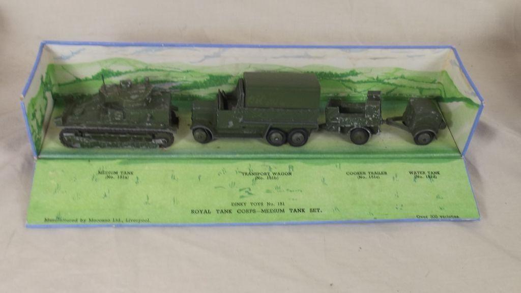 Dinky 151 de preguerra Royal Tanque Cuerpo Militar Tanque Unidad