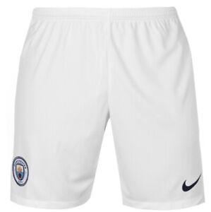 5f747dcc2b1a Detalles de Nike Manchester City Heim Home Pantalón Corto 2018 2019 Blanco  Azul