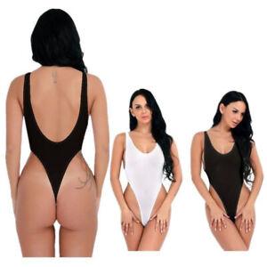 Women-Sheer-Lingerie-Leotard-Bikini-Bodysuit-Thong-Monokini-Swimwear-Beachwear-T