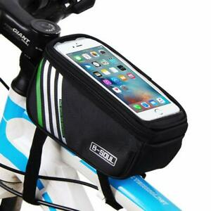 Waterproof-Cycling-Bag-Bike-Bicycle-Front-Frame-Pannier-Tube-Bag-For-Cell-Phone