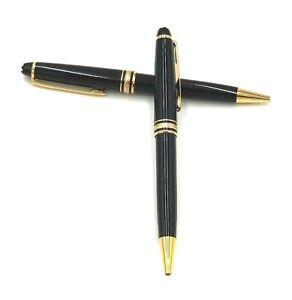 Set-of-Two-Vintage-Montblanc-Meisterstuck-Classique-164-Ballpoint-Pen-Black-Gold