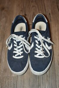 women's converse breakpoint ox size 7 navy and white