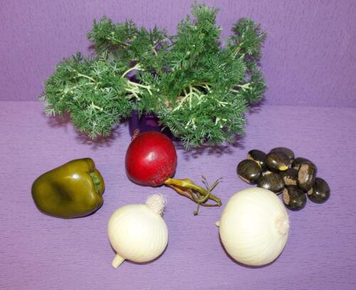 Dekogemüse Petersilie 12 oder 24 Stiele Tischdeko Theke Buffet künstlich